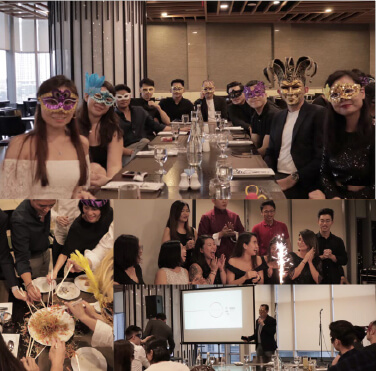 We couldn't mask our happiness at our year end company masquerade!
